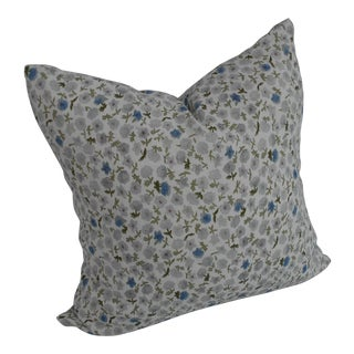 Floral Linen & Cotton Pillow