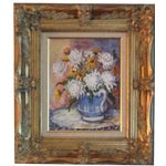 Image of Floral Oil Painting With Gold Frame