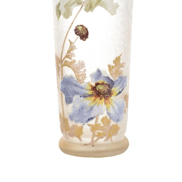 Legras Mont Joye Art Nouveau Painted Vase - Image 3 of 8