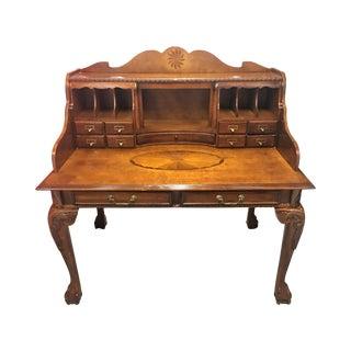Brown Cherry Secretary Desk