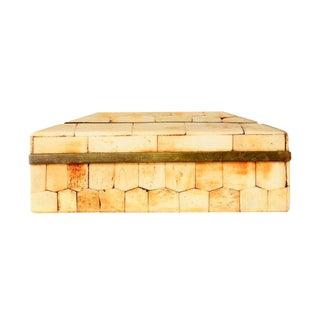 Tessellated Bone & Brass Small Box