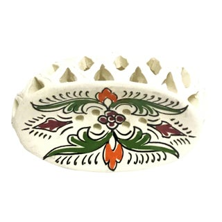 Handpainted Moroccan Ceramic Soap Dish