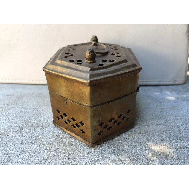 Hexagonal Brass Cricket Box - Image 5 of 8