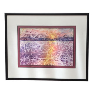 Sea & Sunrise Contemporary Impressionist Painting