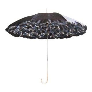 1950s Double Canopy Floral Parasol Umbrella