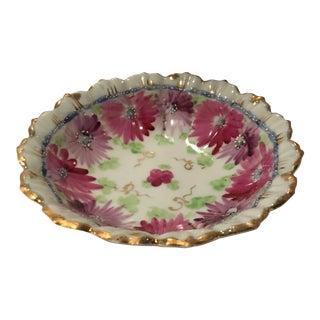 Japanese Floral Porcelain Dish