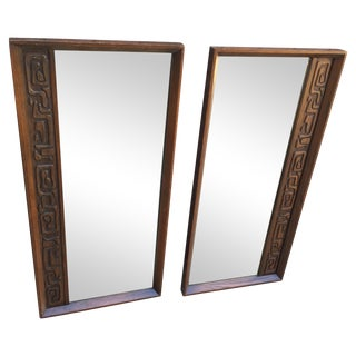 United Furniture Brutalist Wall Mirrors - A Pair