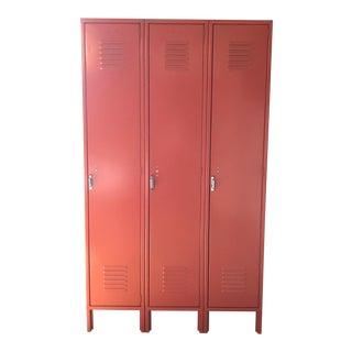 Orange Metal Lockers
