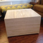 Image of Vintage Travertine Cube Table
