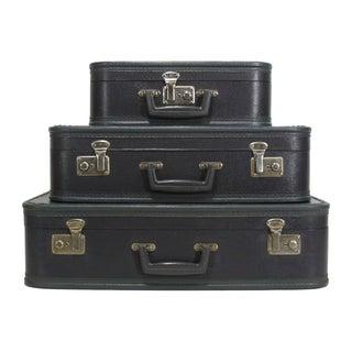 Blue Vintage Suitcases - Set of 3