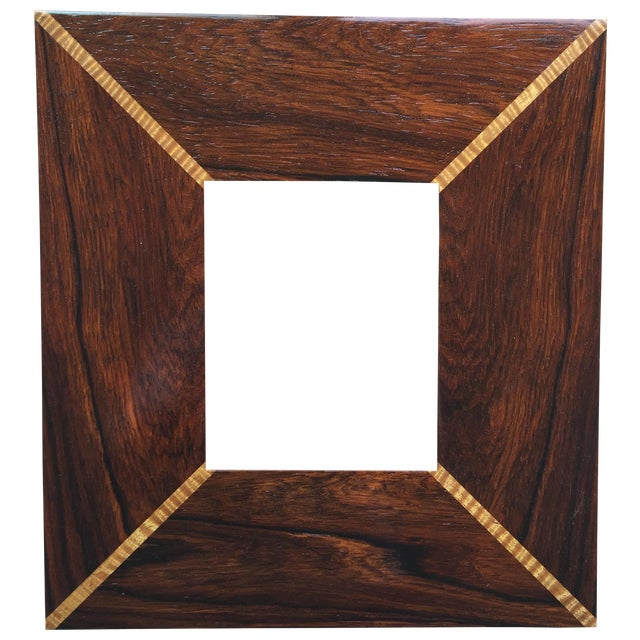 Custom Handmade Exotic Wood Inlaid Frame - Image 1 of 5