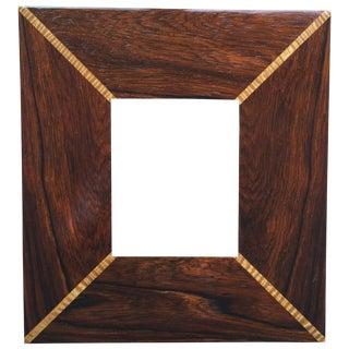 Custom Handmade Exotic Wood Inlaid Frame