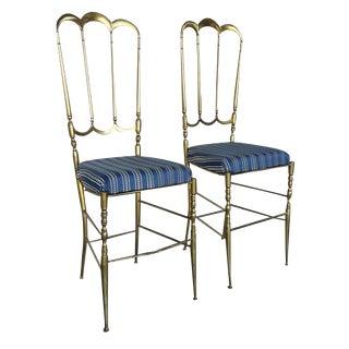 Italian Chiavari Brass Chair Set