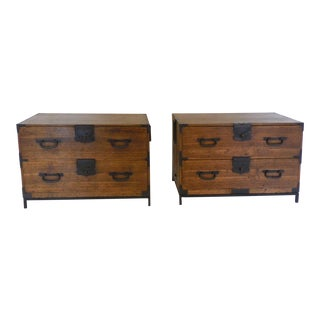 Pair of Tansu Low Chests