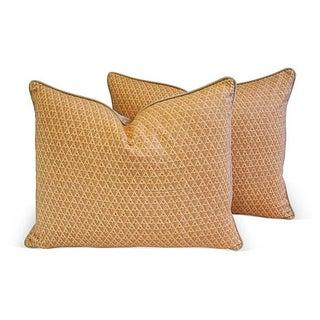 Designer Italian Fortuny Murillo Pillows - Pair