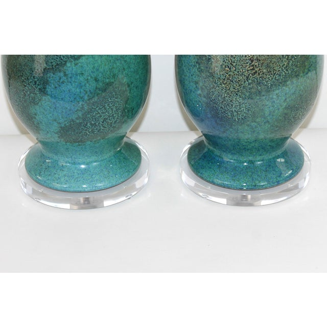 Royal Haegar Drip Glaze Lamps- A Pair - Image 5 of 5