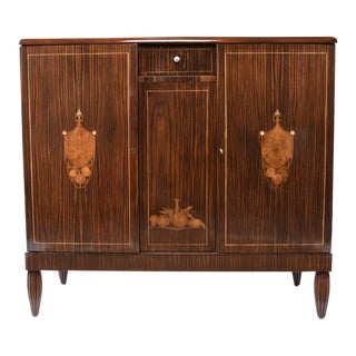 Traditional 1930s French Art Deco-style Macassar Wood Buffet
