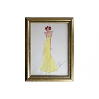 1976 Fashion Design Watercolor
