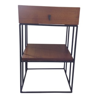 Ashley Hicks Steel & Teak Nightstand
