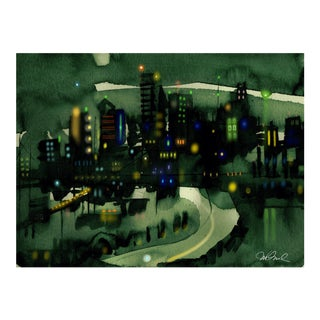 Premium Giclee Print Of Seattle the Emerald City