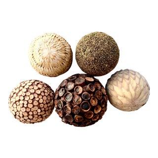 Decorative Natural Spheres - Set of 5