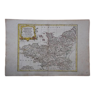 Antique 18th C. Map-France (Normandy)