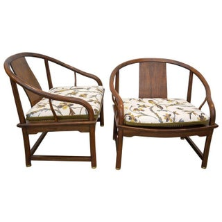 Baker Far East Collection Walnut Chairs.