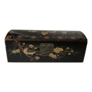 Chinese Velvet & Lacquered Box