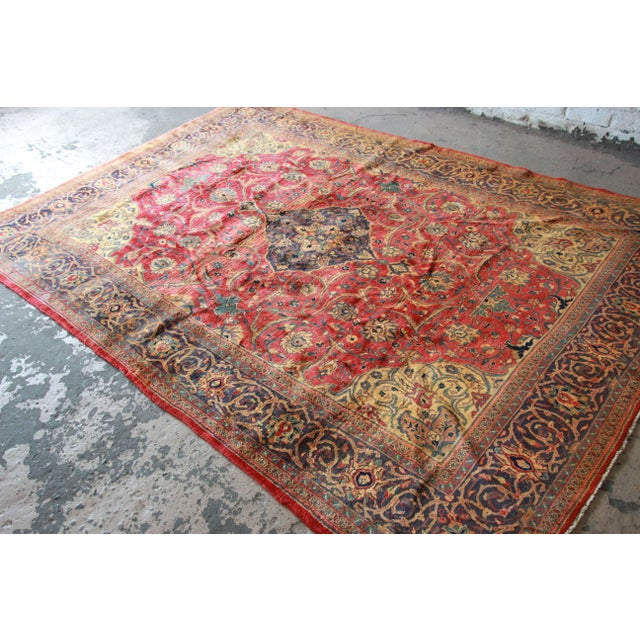 Image of Vintage Hand-Woven Persian Rug - 7′4″ × 8′12″