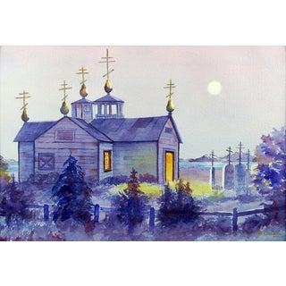 Ninilchik Alaska Watercolor