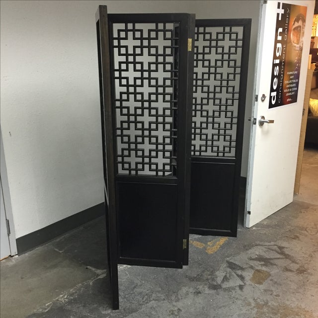 Custom Made Four Panel Wooden Screen - Image 11 of 11