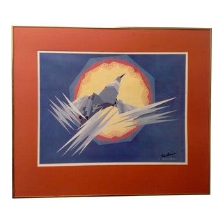 Oscar Howe Mythical Bird Lithograph