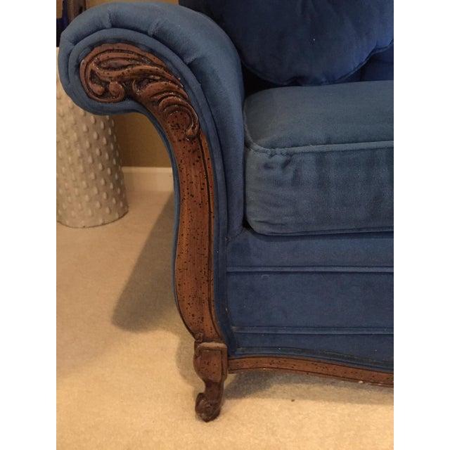 Custom Made Midnight Blue Velvet Sofa Sleeper Chairish