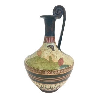 Hand Painted Greek Oinochoe Vase