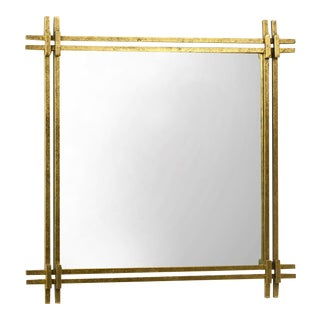 Nouveau Gold Leaf Iron Mirror