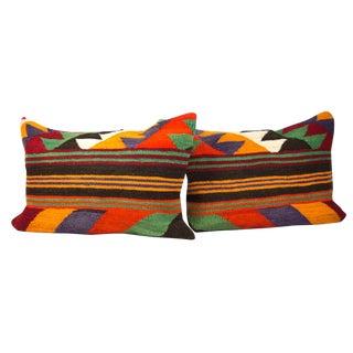 Matching Lumbar Kilim Pillows- A Pair