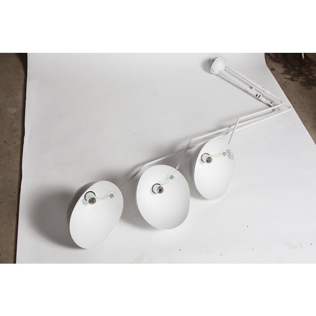 White Serge Mouille-Inspired Pendant Lamp - Image 2 of 4