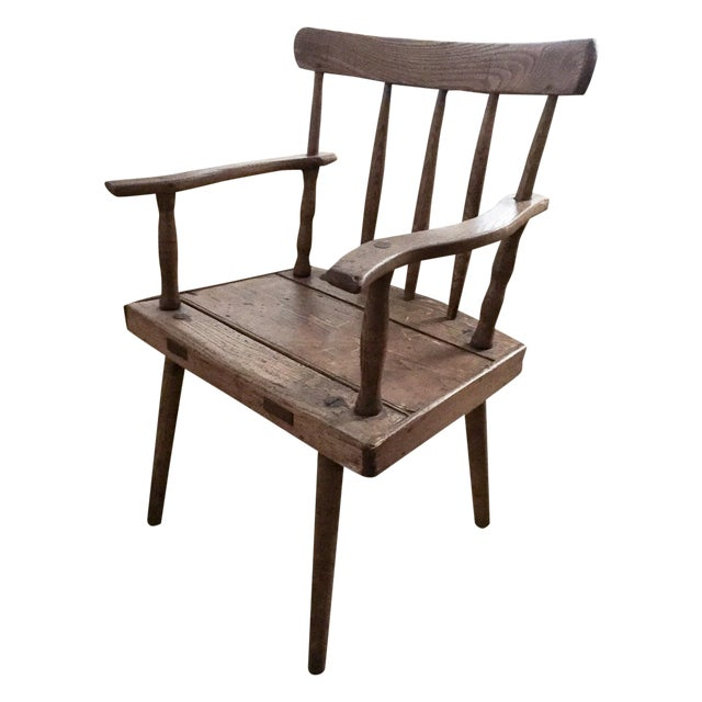 Antique wood arm chair chairish