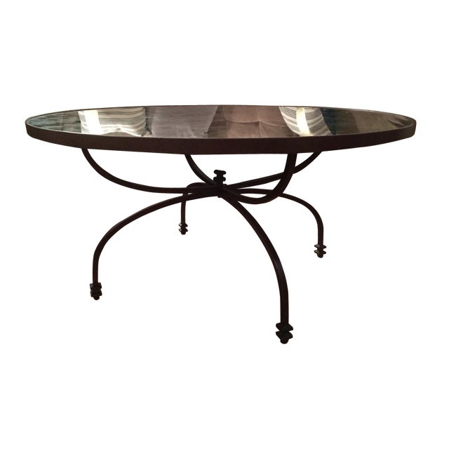 Pottery Barn Willow Antiqued Coffee Table - Image 1 of 8