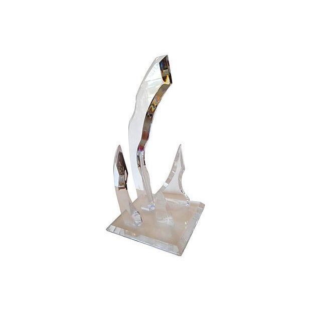 Image of Abstract Lucite Sculpture