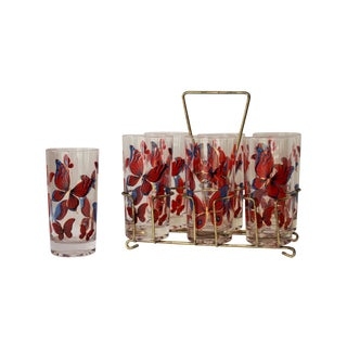 Fred Press Glasses & Caddy - Set of 7