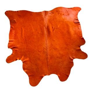 Orange Cowhide Rug