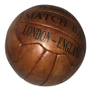 New English Leather Soccer Wembley Match Ball
