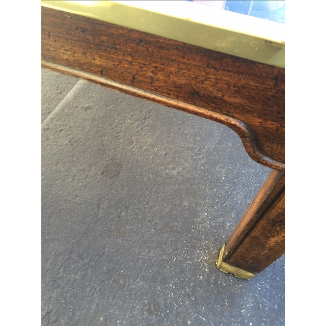 Image of Vintage Brass Fretwork Cocktail Table