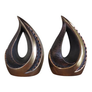 "Ben Seibel Bookends ""Flame"" - A Pair"