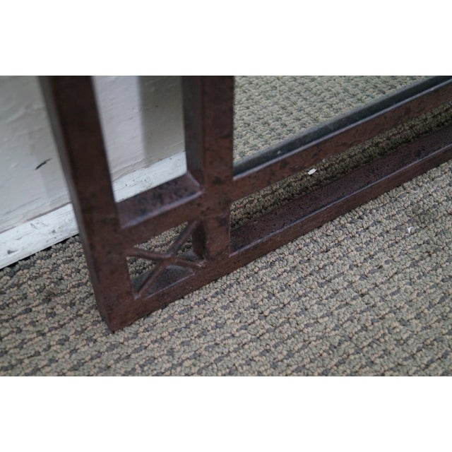 Medieval Gothic Custom Iron Frame Wall Mirror - Image 8 of 10