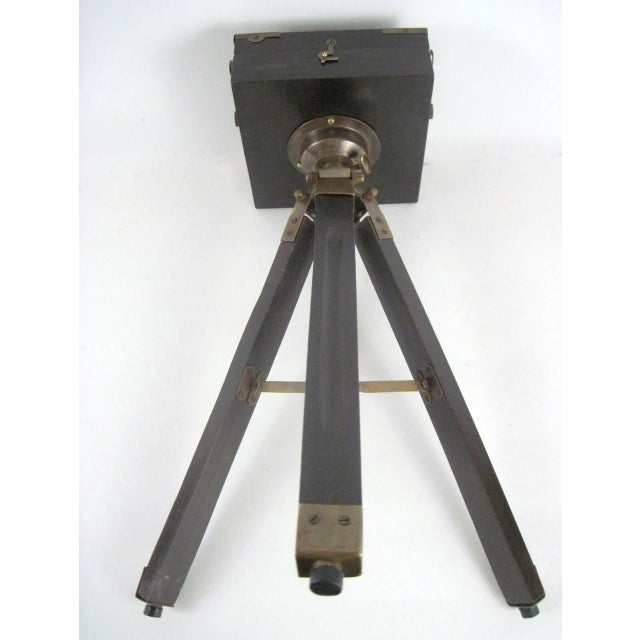 Brass And Wood Tripod Replica 1800's Box Camera - Image 7 of 9