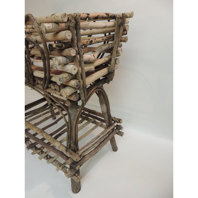 Vintage Willow and Wicker Large Plant Stand - Image 3 of 6