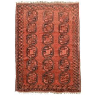 "RugsinDallas Vintage Hand Knotted Wool Turkmen Rug - 6'3"" X 8'8"""