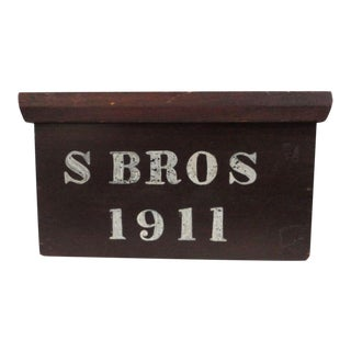 Signed and Dated 1911 Document Box in Original Paint from PA